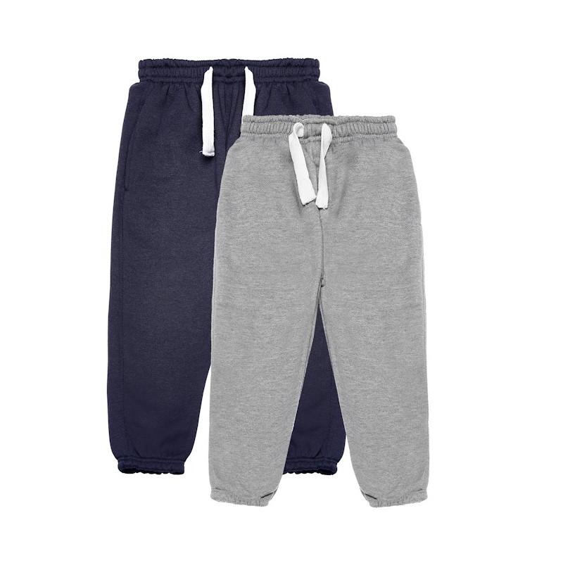 Set pantaloni sport, gri și albastru  77097