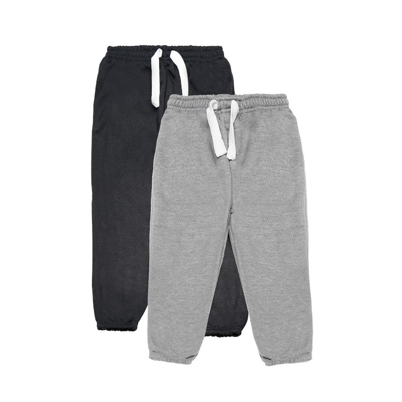 Set pantaloni sport, gri și negru  77104