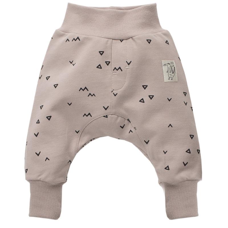 Pantaloni de bumbac cu imprimeu figurat pentru bebeluși - unisex  772