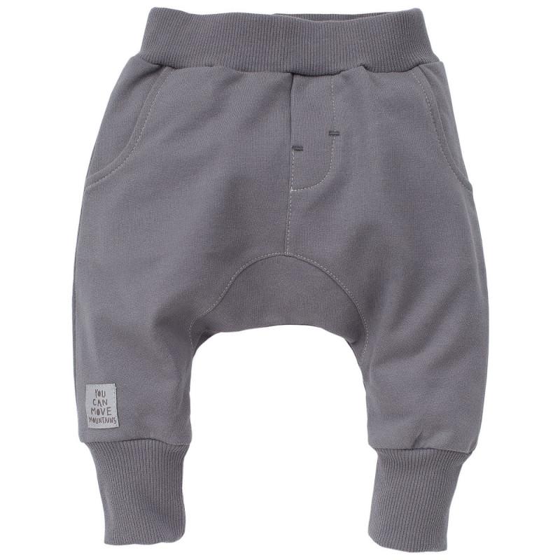 Pantaloni de bumbac pentru băieți, gri închis  801