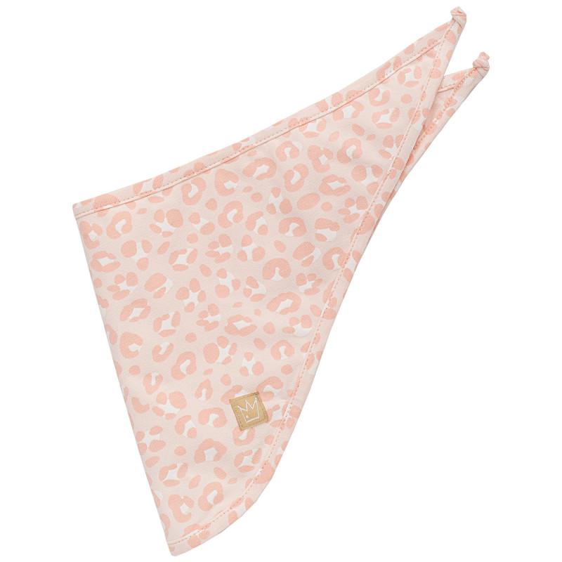 Bandană din bumbac cu model roz închis pentru fetițe  809