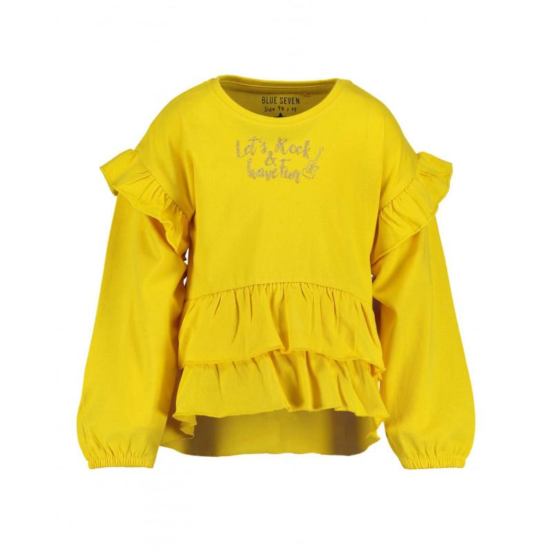 Bluză din bumbac cu mânecă lungă pentru fată pentru fată  81481