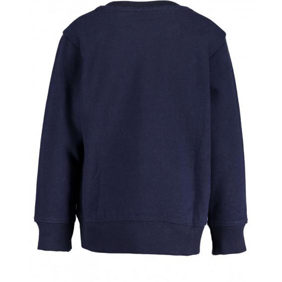 Pulover cu bumbac cu mânecă lungă pentru un băiat pentru băiat BLUE SEVEN 81510 2