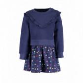 Rochie din bumbac cu mânecă lungă pentru fetiță pentru fată BLUE SEVEN 81521