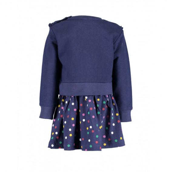 Rochie din bumbac cu mânecă lungă pentru fetiță pentru fată BLUE SEVEN 81522 2