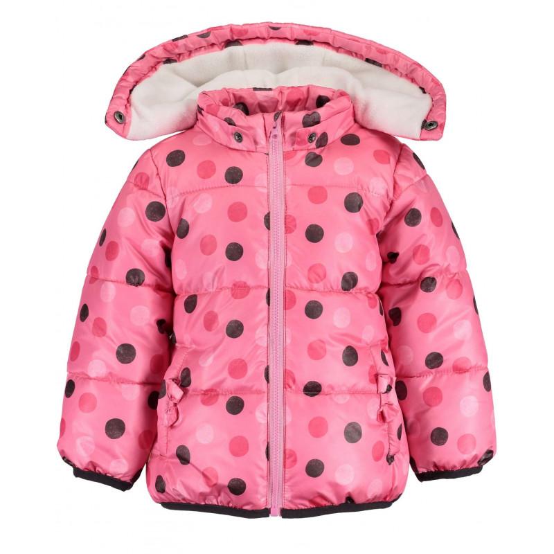 Geacă cu buline, roz, pentru fete  81535