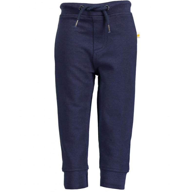 Pantaloni de bumbac cu talie reglabilă pentru băieți, albaștri  81549