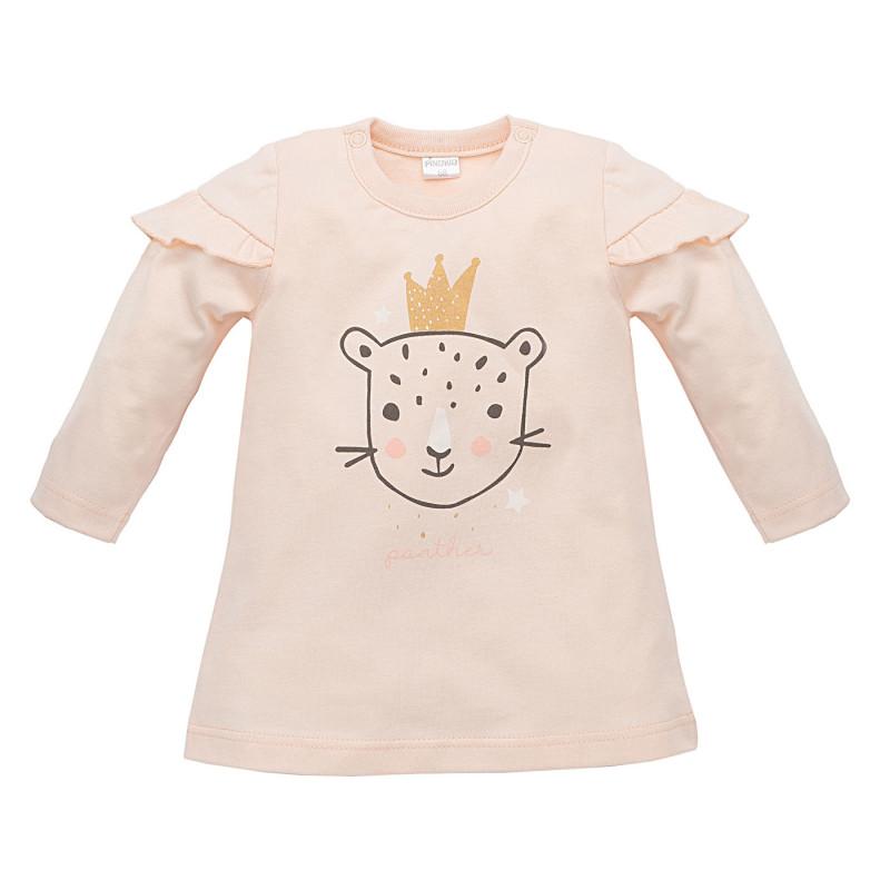 Tunică cu bumbac cu mânecă lungă cu imprimeu pentru un copil  821