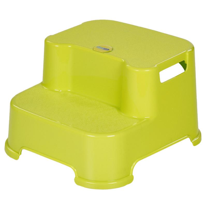 Scăunel cu pas dublu pentru baie, verde  82458