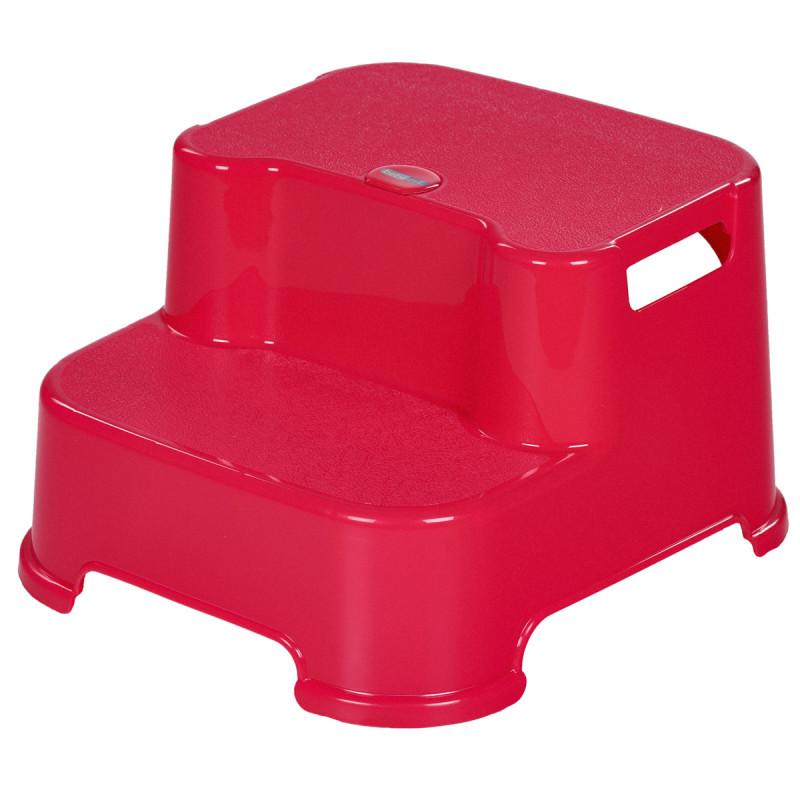 Scăunel cu pas dublu pentru baie, roz  82466