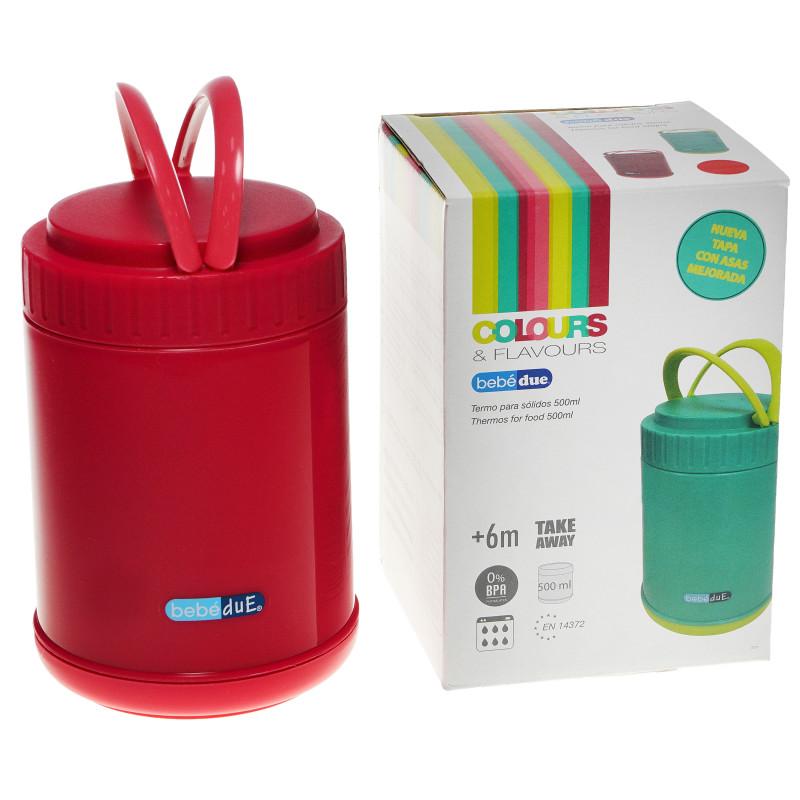 Termos alimentar plastic, 500 ml, roșu  82664