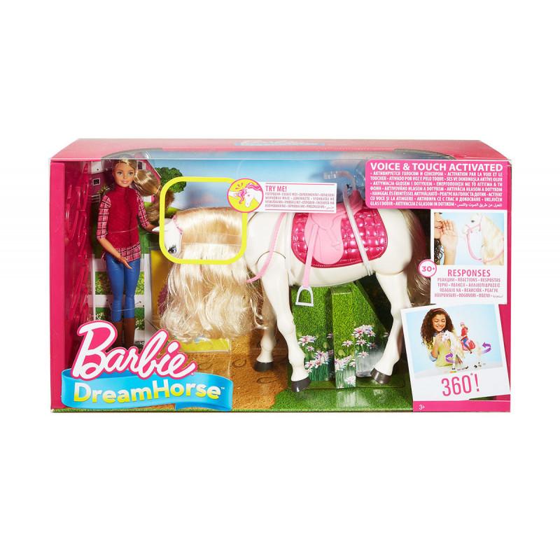 Păpușa Barbie - cal interactiv cu mișcări și sunete  8276