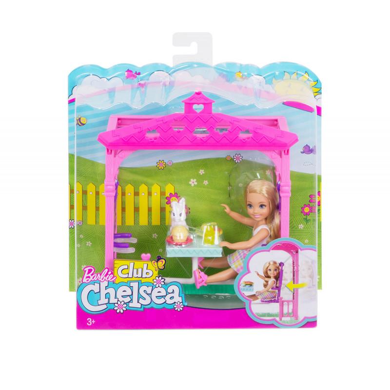 Păpușă Barbie  - un set de joacă Chelsea cu jucării  8282