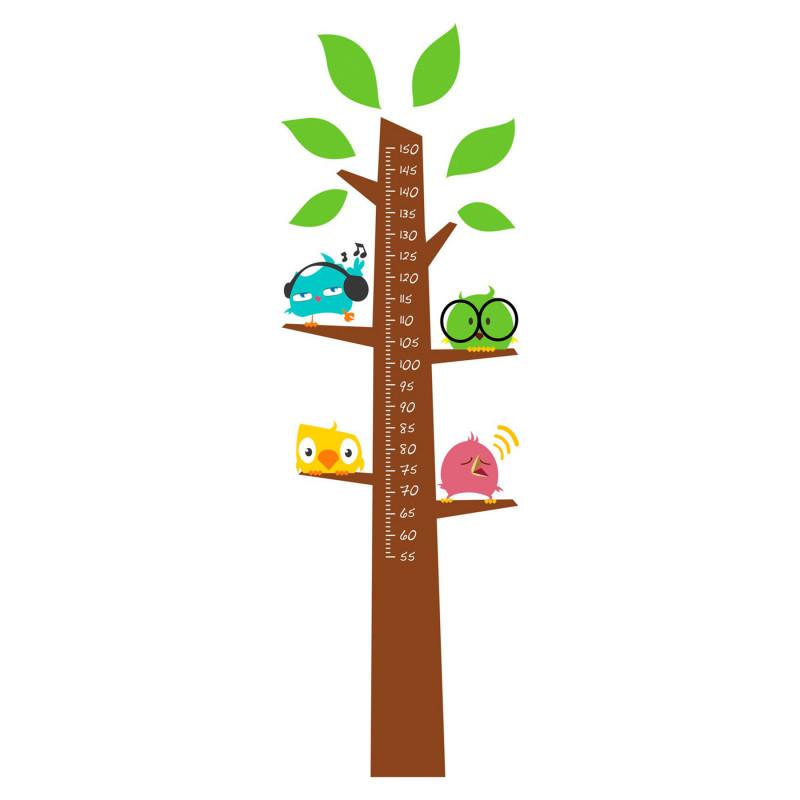 Autocolant grafic de creștere, autocolant de perete - arbore pentru măsurarea înălțimii  82852