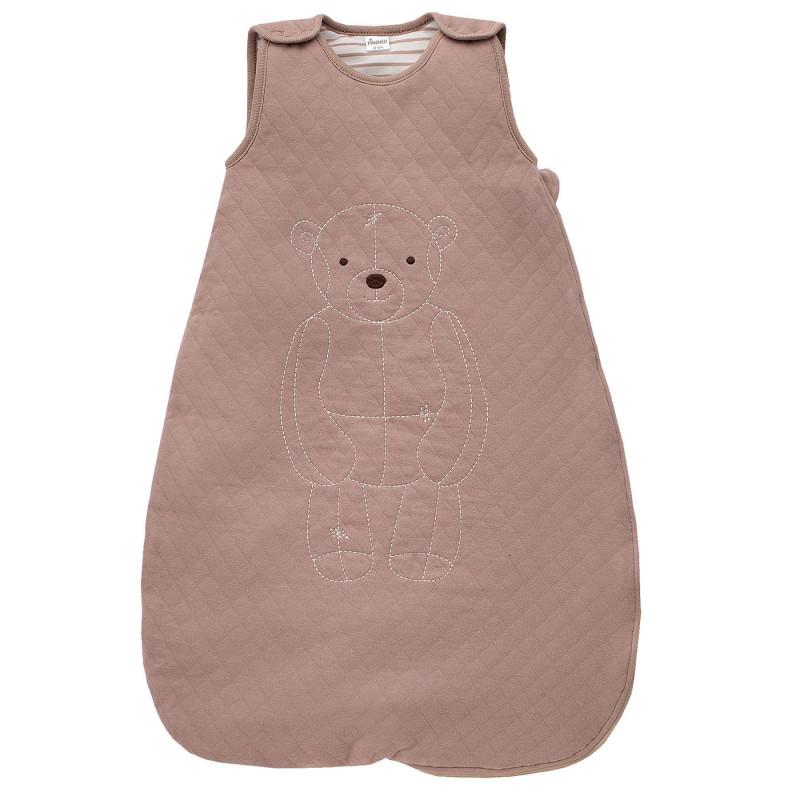 Sac de dormit din bumbac pentru bebeluși - unisex, de culoare maro  829