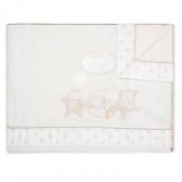 """Set lenjerie de pat pentru bebeluși """"Zoo"""" cu termometru Inter Baby 83450 2"""