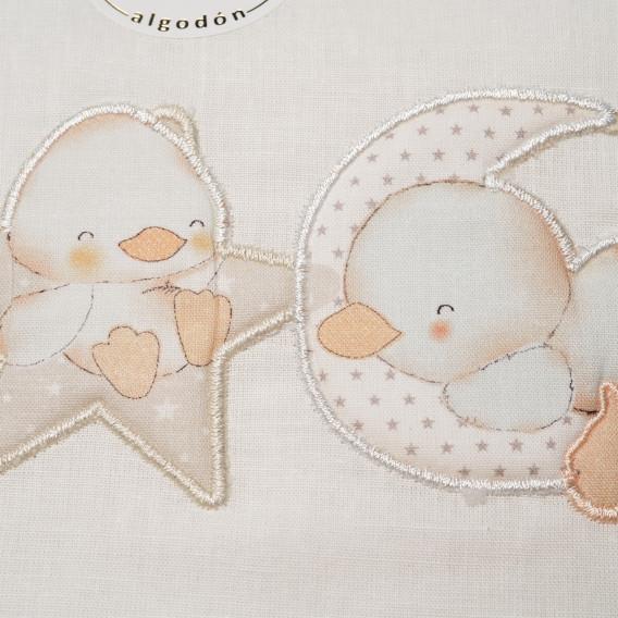 """Set lenjerie de pat pentru bebeluși """"Zoo"""" cu termometru Inter Baby 83451 3"""