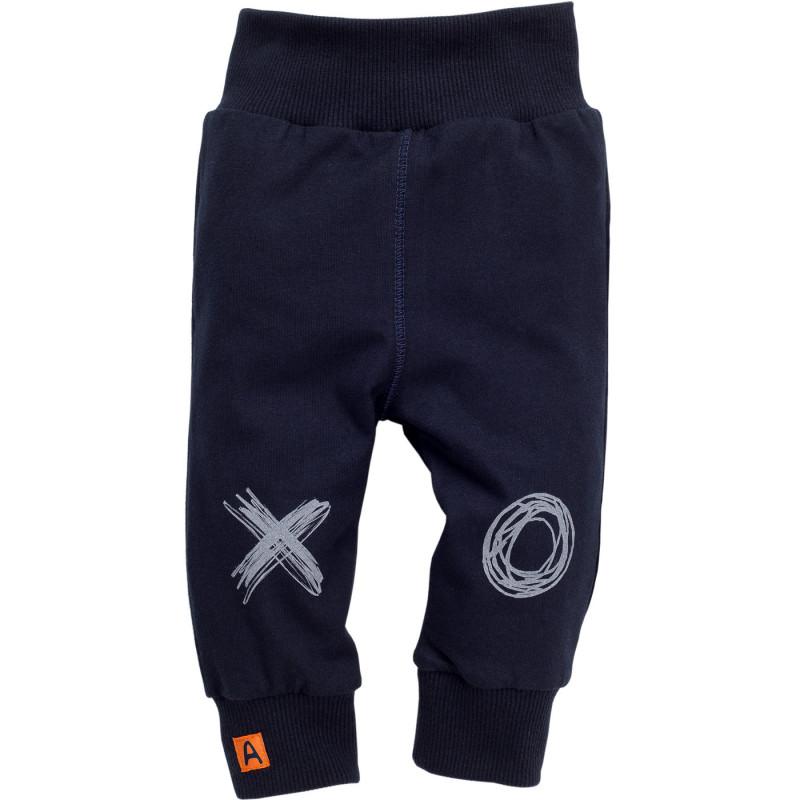 Pantaloni cu imprimeu și o aplicație mică pentru bebeluși - unisex  852