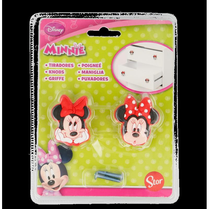 Butoane pentru mobilier Minnie Mouse, 2 bucăți  8527