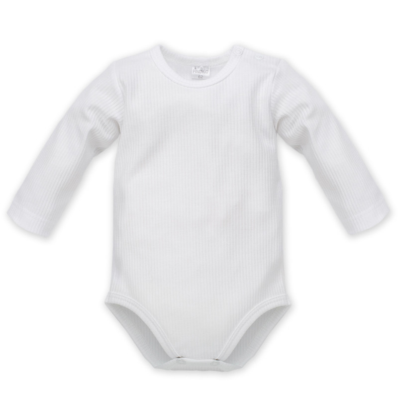Body de bumbac cu mâneci lungi și capse pentru bebeluși - unisex  856