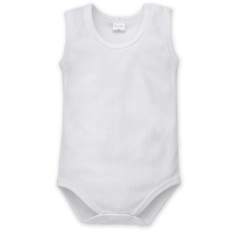 Body de bumbac fără mâneci pentru bebeluși - unisex  857