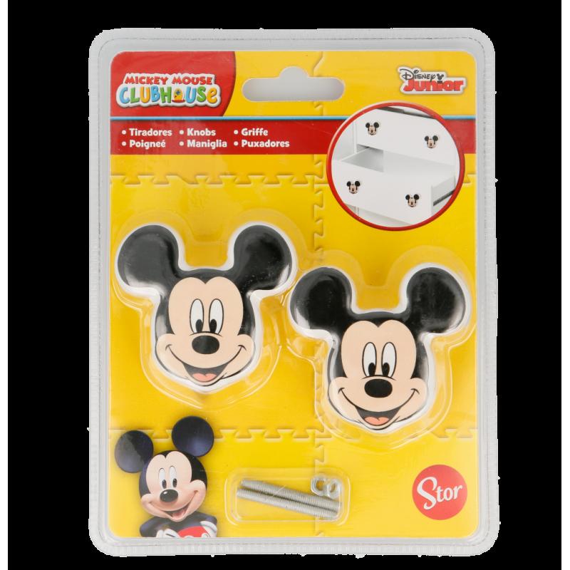 Mâner de mobilier în formă de Mickey Mouse, 2 bucăți  8577