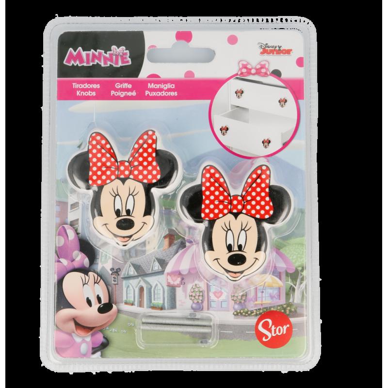 Mâner de mobilier în formă de Minnie Mouse, 2 bucăți  8579