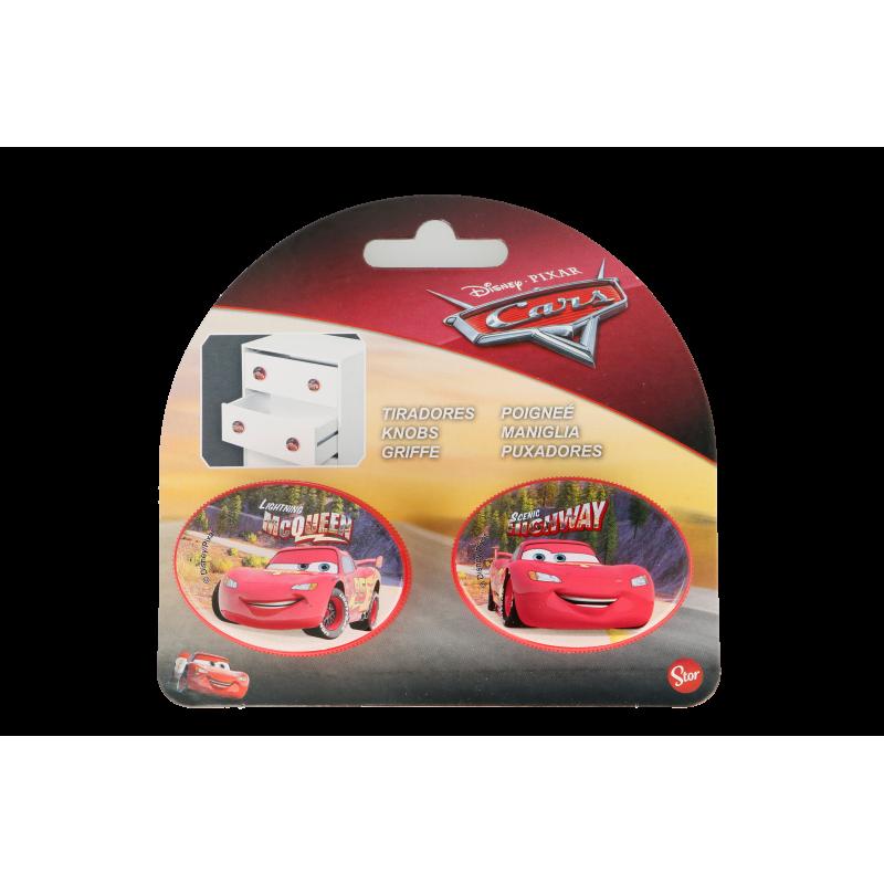 Mâner mobilier oval Mașini - McQueen, 2 bucăți, roșu  8581