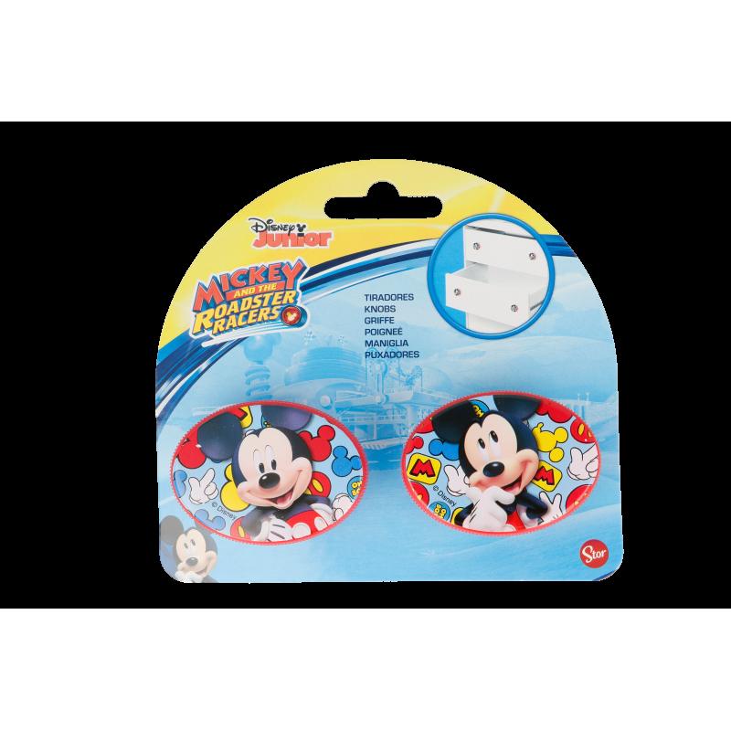 Mâner de mobilă oval Mickey Mouse, 2 bucăți, roșu  8585