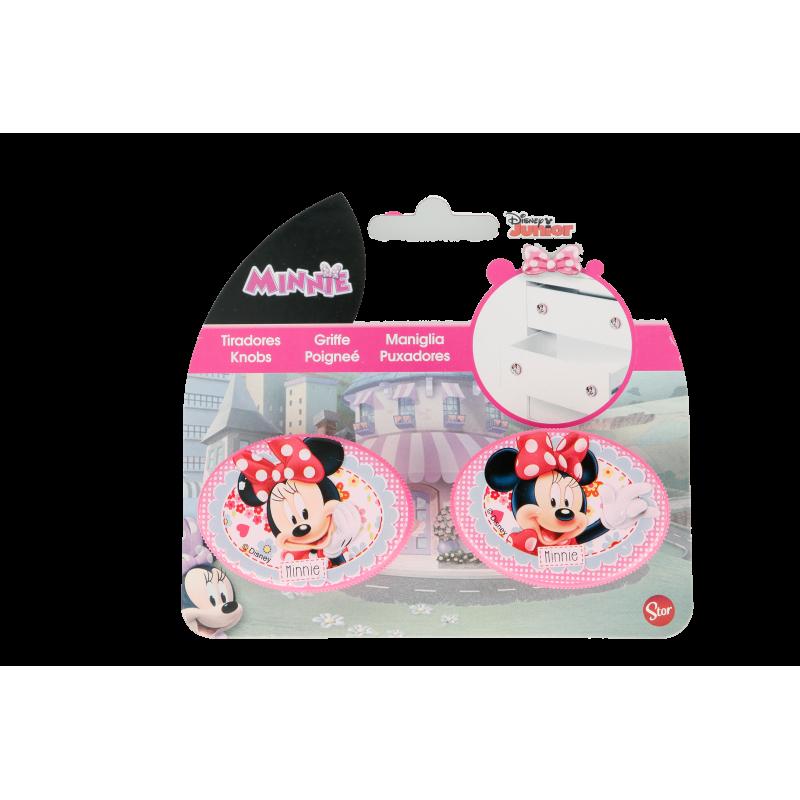 Mâner pentru mobilier oval Minnie Mouse, 2 piese, roz  8587
