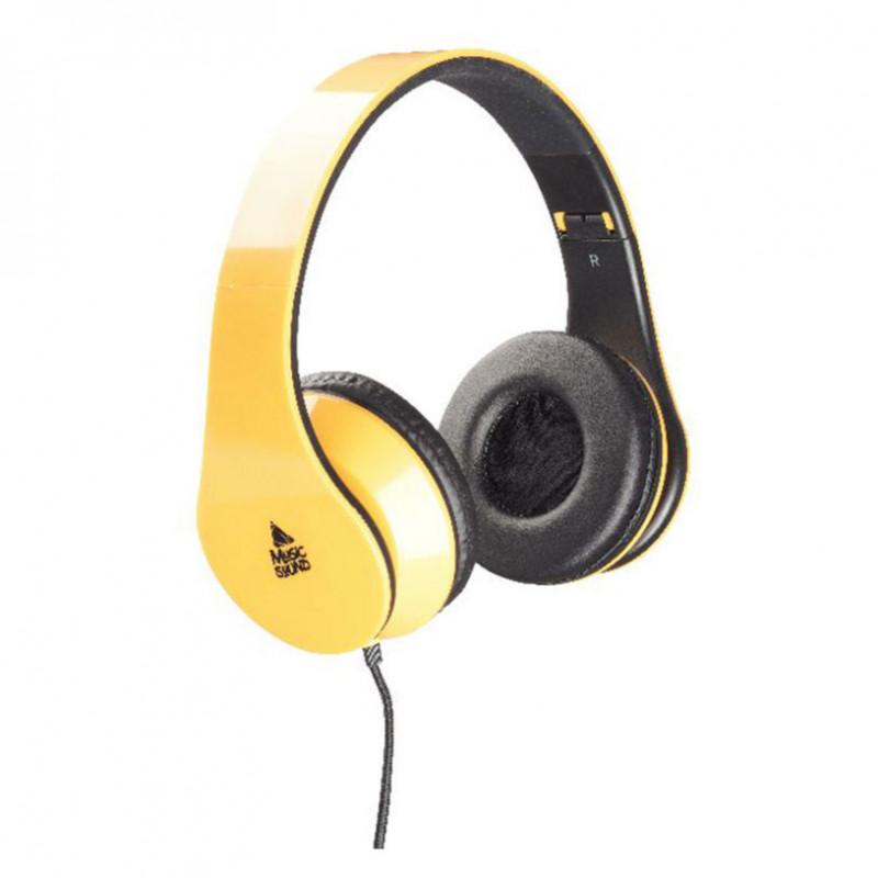 Căști stereo galben pentru sunet muzical  8614