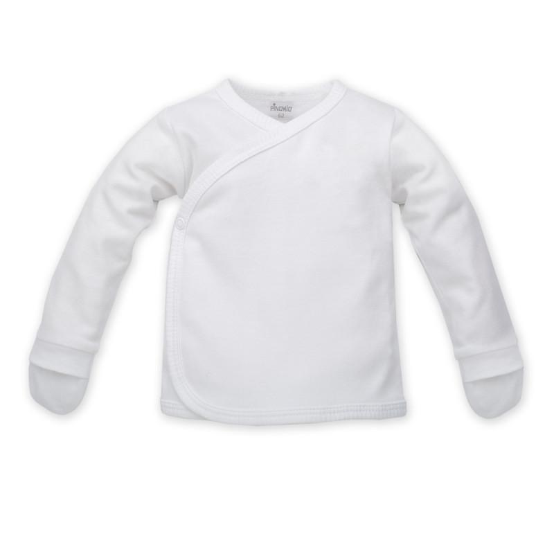 Bluză din bumbac cu mânecă lungă pentru bebeluși, cu față laterală - Unisex  864