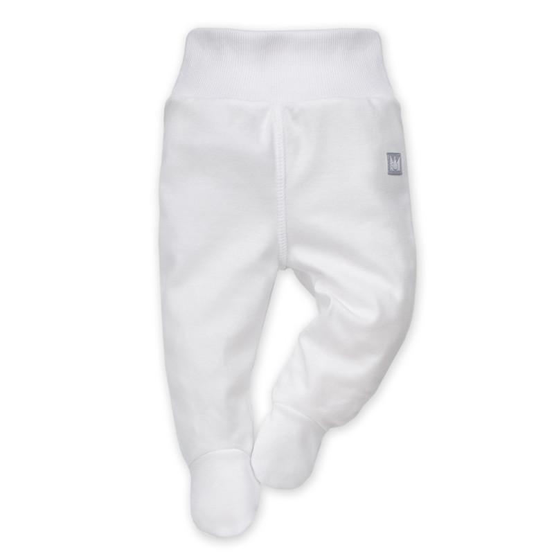 Pantaloni de bumbac cu o bandă elastică largă și o aplicație mică  868