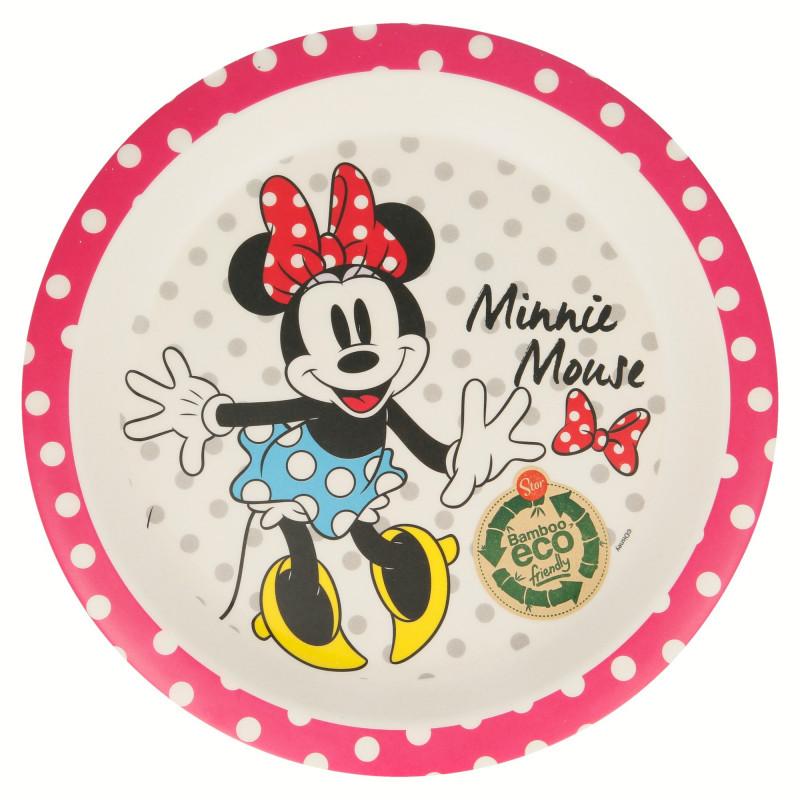 Farfurie de bambus cu poza lui Minnie Mouse  8733