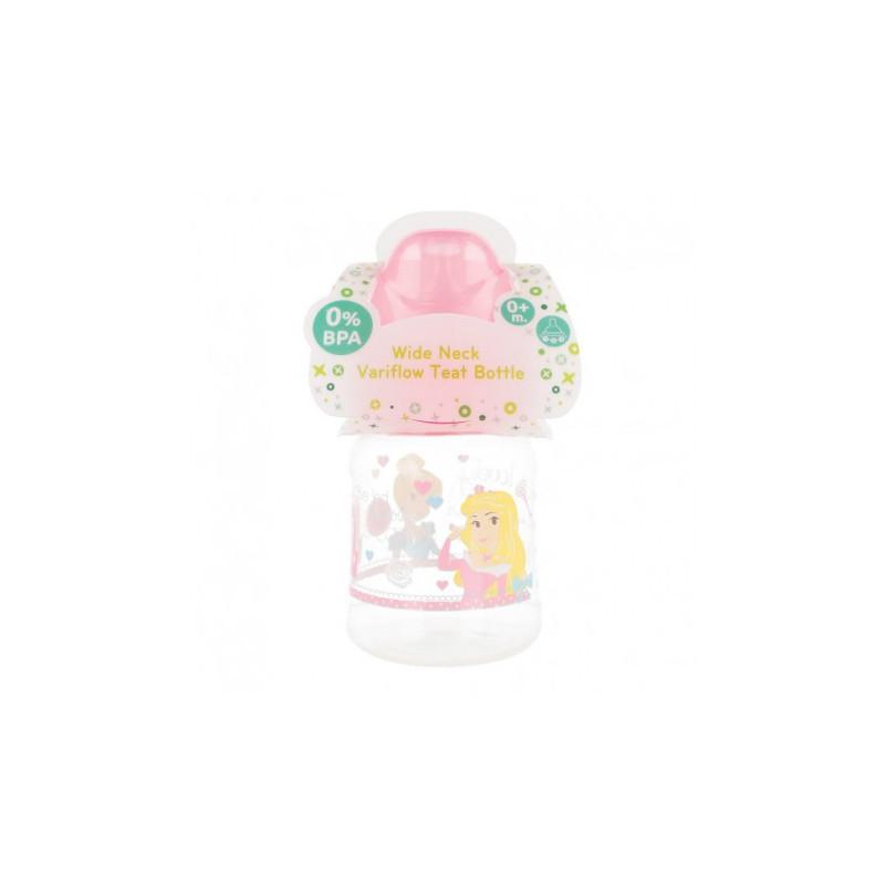 Biberon din polipropilenă Little Princess, cu tetină 2 picături, 0+ luni, 150 ml, culoare: roz  8775