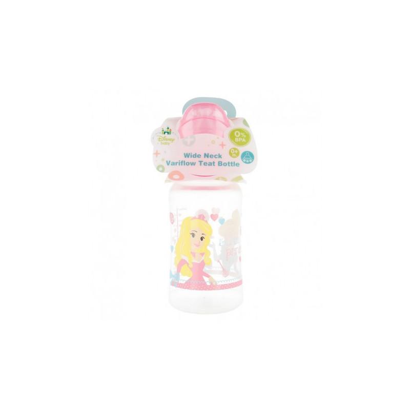 Biberon din polipropilenă Winnie Ready to play, cu tetină cu 2 picături, 0+ luni, 240 ml, culoare: roz  8776