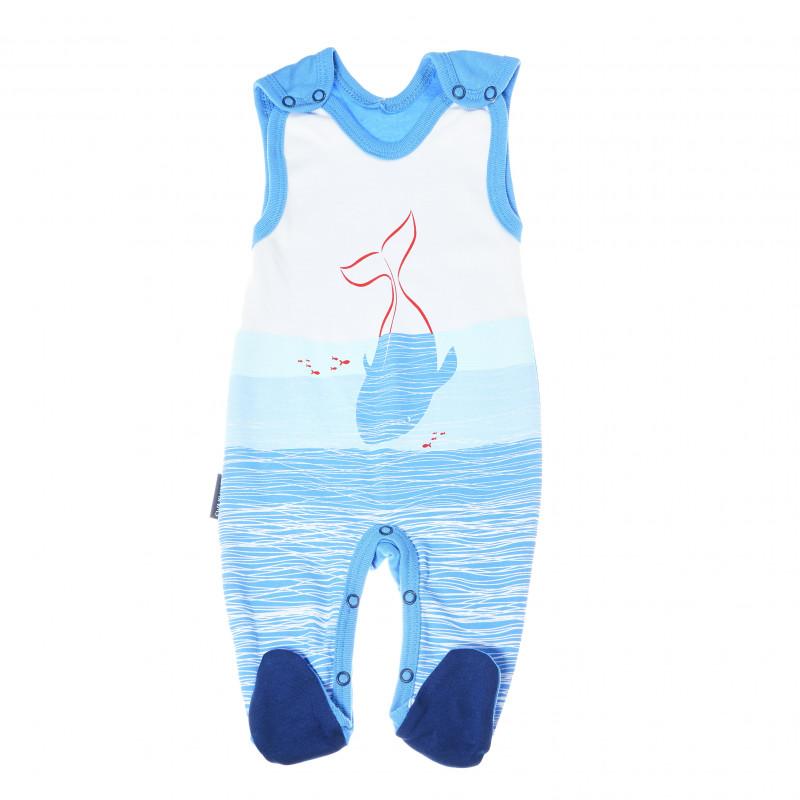 Salopetă pentru bebeluși, de culoare albastră  88002