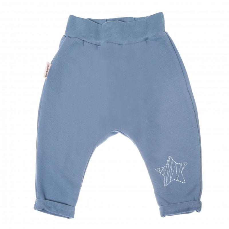 Pantaloni sport din bumbac, cu aplicație stea pentru fetițe  88007