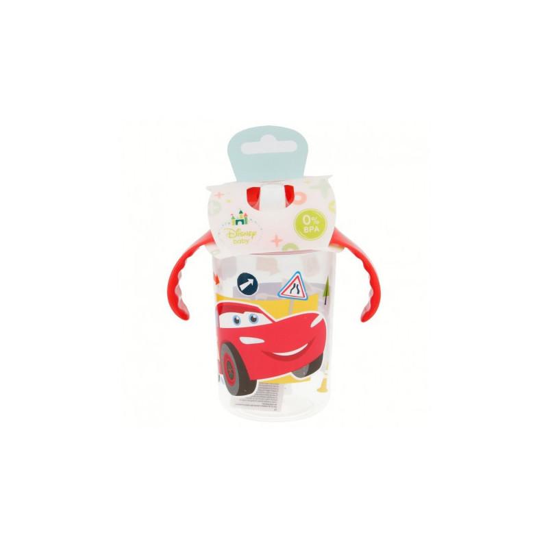 Pahar cu mânere roșii și duză de băut, 10+ luni, Cars  8802