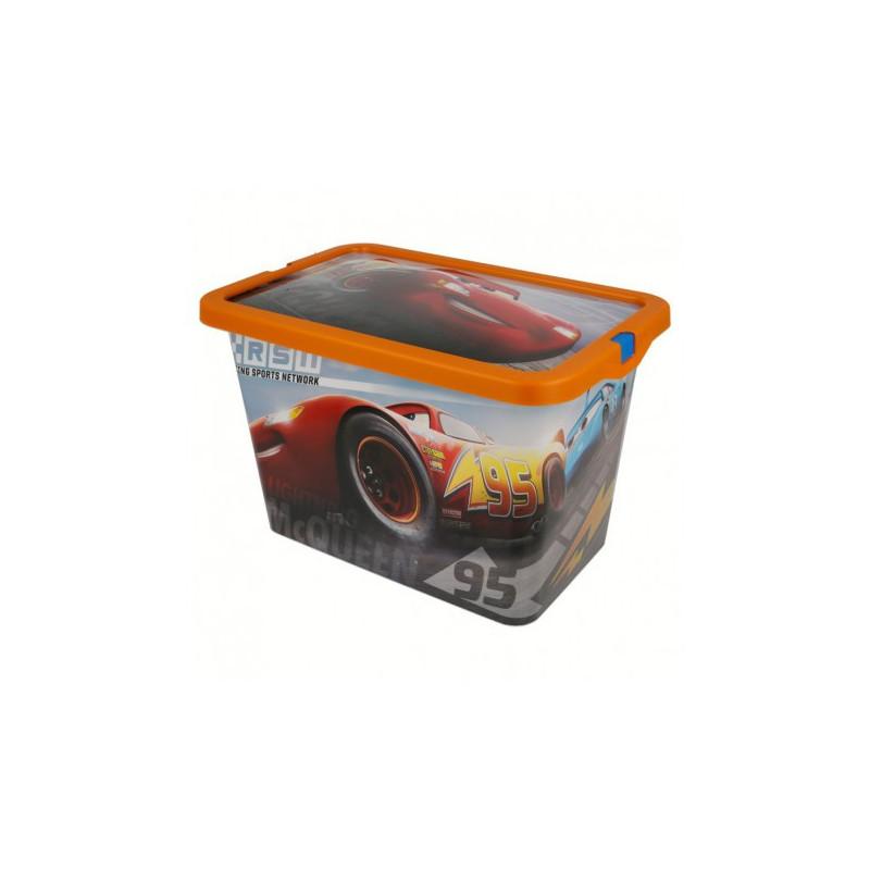 Cutie de depozitare cu protecție, cu imagini din filmul Mașini, 7 litri  8871