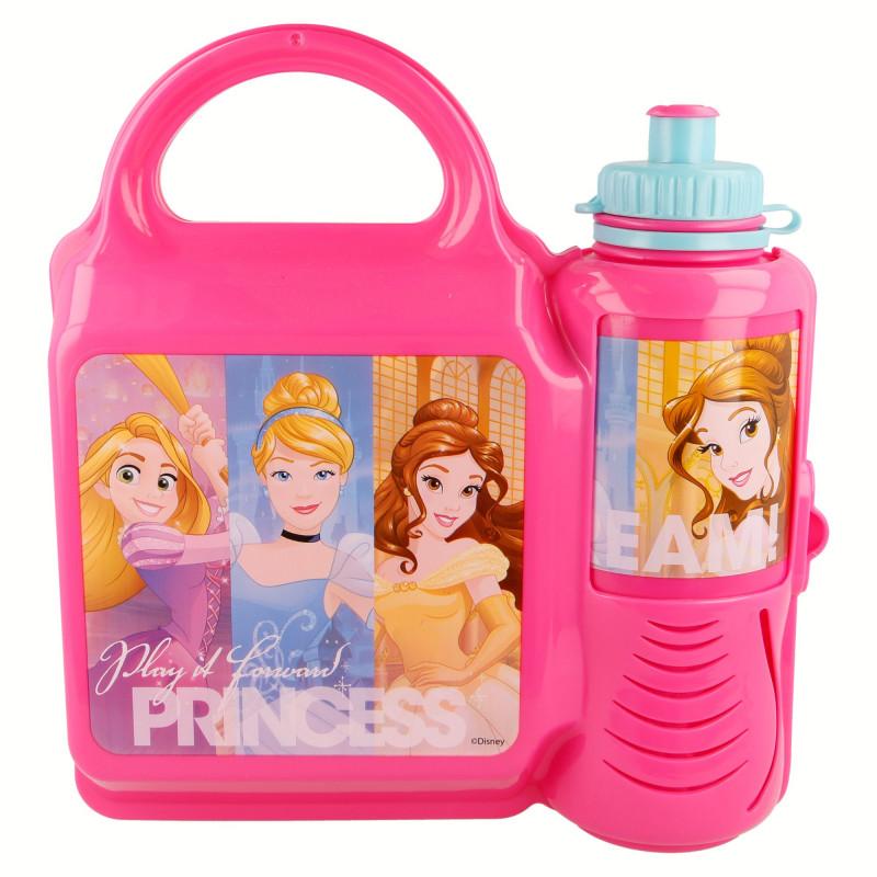 Set - sticlă de sport pentru lichide și cutie de sandwich cu imagine PRINCESS FRIENDSHIP  9004