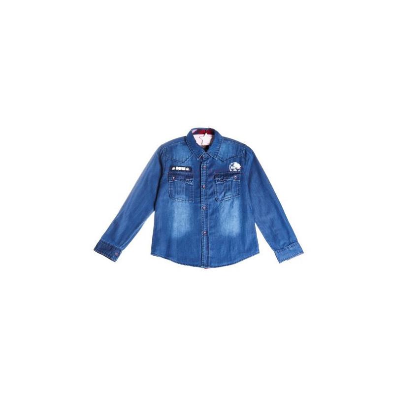 Cămașă denim pentru băieți, culoare albastră clasică  9176