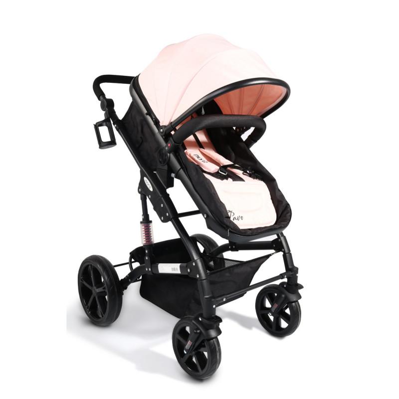 PAVO NEW Cărucior 2-în-1 pentru copii, roz  9206
