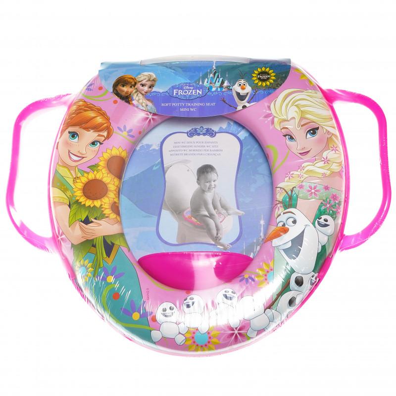 Mini scaun de toaletă pentru copii cu mânere și imagine din filmul Frozen  94978
