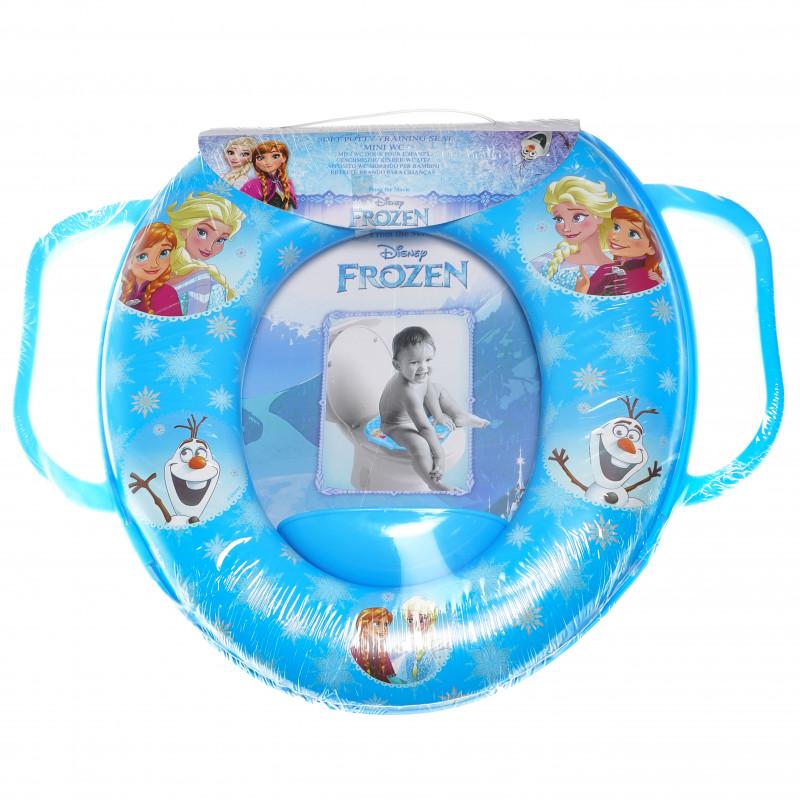 Mini scaun de toaletă pentru copii cu mânere și o imagine din filmul Frozen  95000