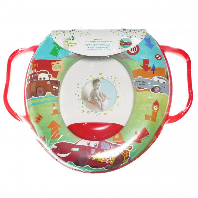 Mini scaun de toaletă pentru copii cu mânere și imagini cu mașini  95026