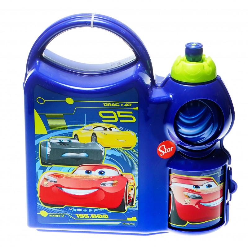 Set - sticlă de sport și cutie pentru sandwich cu imagine Cars  95028