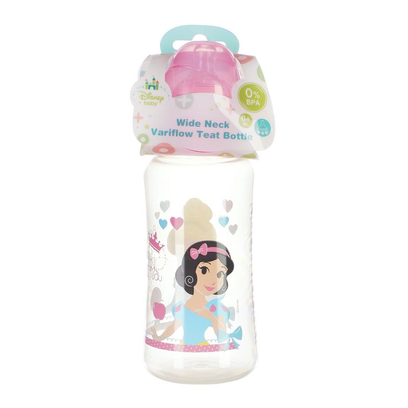 Biberon din polipropilenă Little Princess, cu tetină 3 picături, 0+ luni, 360 ml, culoare: roz  95326