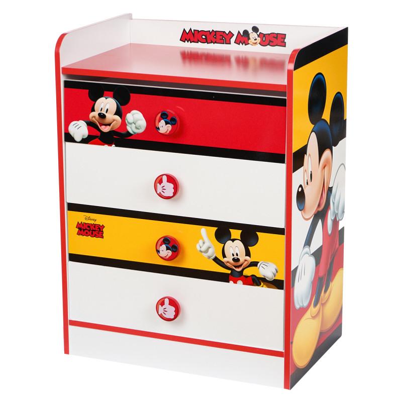 Comodă- Mickey Mouse în curlorile roșu, alb și galben Stor 95681