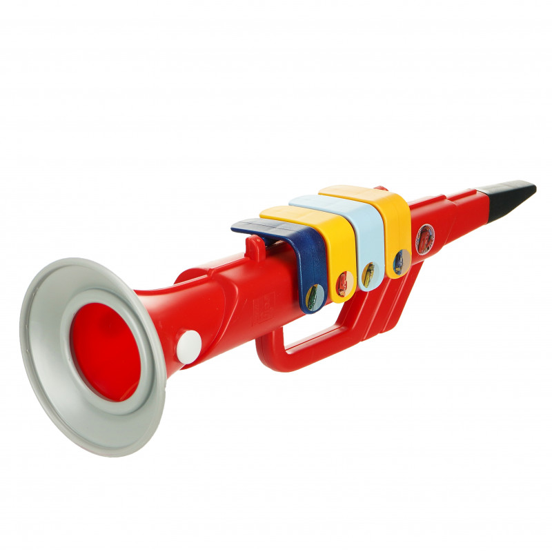 Trompetă pentru copii cu 4 note muzicale, cu imagini din filmul Cars  96045
